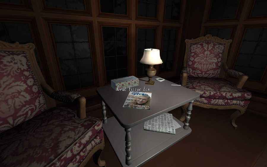 Gone Home being videogame-y