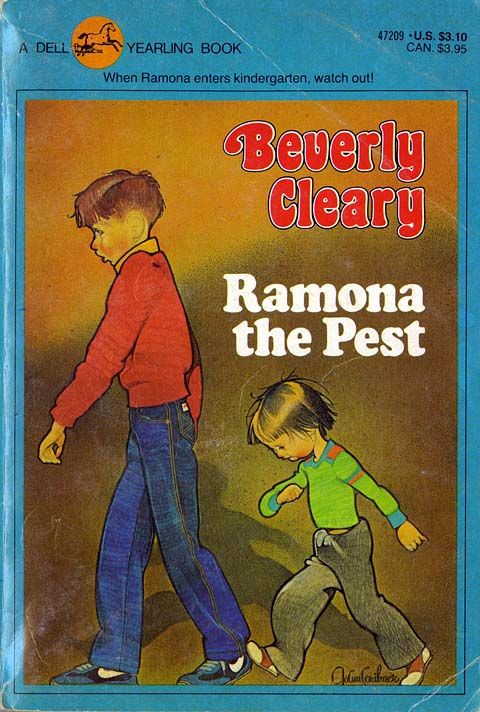 Ramona the Pest, cover by Joanne Scribner