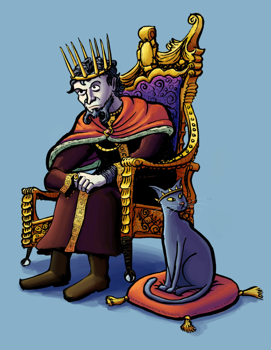 The evil king
